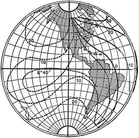 isogonic lines  earth clipart
