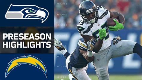 seahawks  chargers nfl preseason week  game