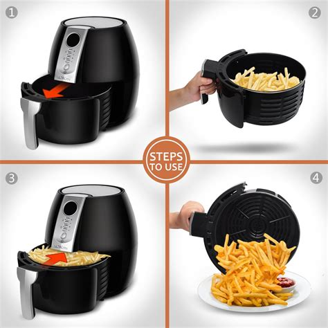 fryer air ultrean recipes plus cookbook oil airfryer anti pot easy programmable roaster quarts lcd easily screen scratch detachable frying