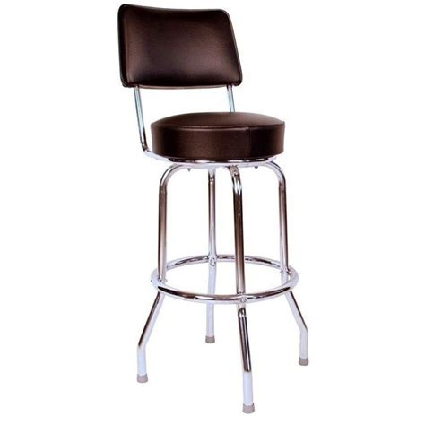 1950s Bar Stools Richardson Seating Retro 1950s Swivel Bar Stool In Black