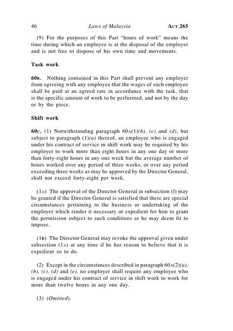 Employment Act 1955 Malaysia