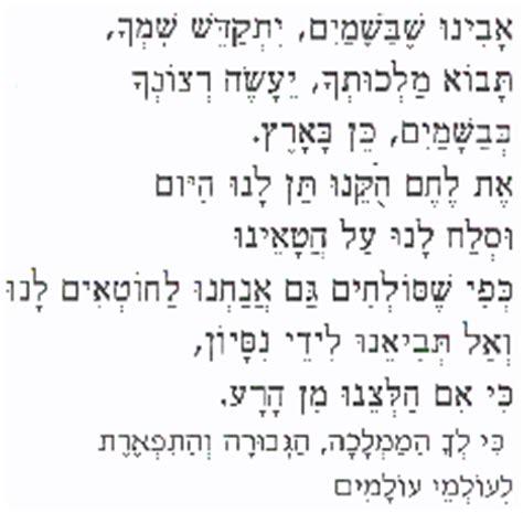 testo padre nostro padre nostro nei testi ebraico aramaico greco