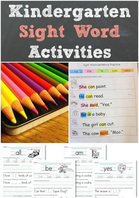 kindergarten sight word activities favorites 846   kindergarten sight word activities