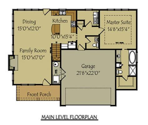 Images Bungalo Floor Plans by Craftsman Bungalow Style House Plan With Garage