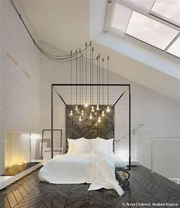 Schlafzimmer Leuchten Decke : hoher dachschr ge dieses master schlafzimmer verf gt ber oberlichter und industrielle lichter ~ Markanthonyermac.com Haus und Dekorationen