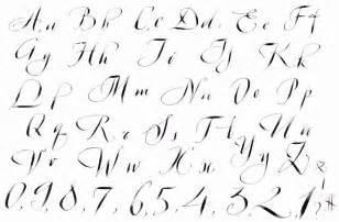 Hand Calligraphy Alphabets