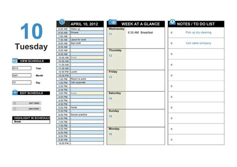 hourly planner templates  word excel  formats