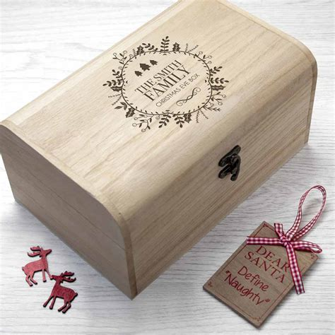personalised family christmas eve chest shower me with gifts