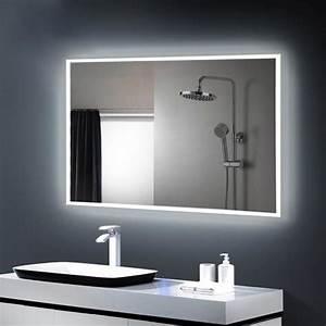 antenr miroir led lampe de miroir eclairage salle de bain With miroir lumineux salle de bain pas cher