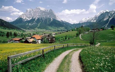 hd alpine village  austria wallpaper