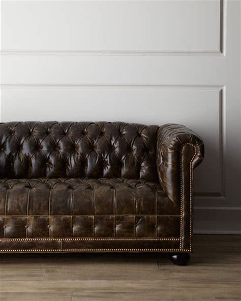 old hickory tannery sofa old hickory tannery quot st andrews quot leather sofa
