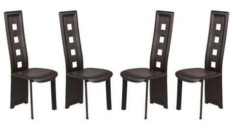 lot chaises pas cher chaise en pvc noir lot de 4 pas cher chaise design