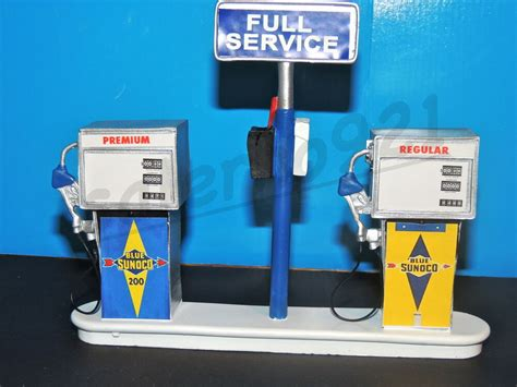 Sunoco Service Station Gas Pump Island(ready To Display) 1