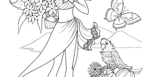 Nice Fashion Girl Coloring Pages 17