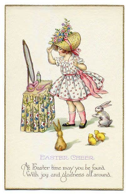vintage easter cards images  pinterest
