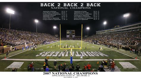 appalachian state university  national champions poster