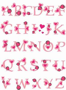 playful pink alphabet vector material my free With pink alphabet letters