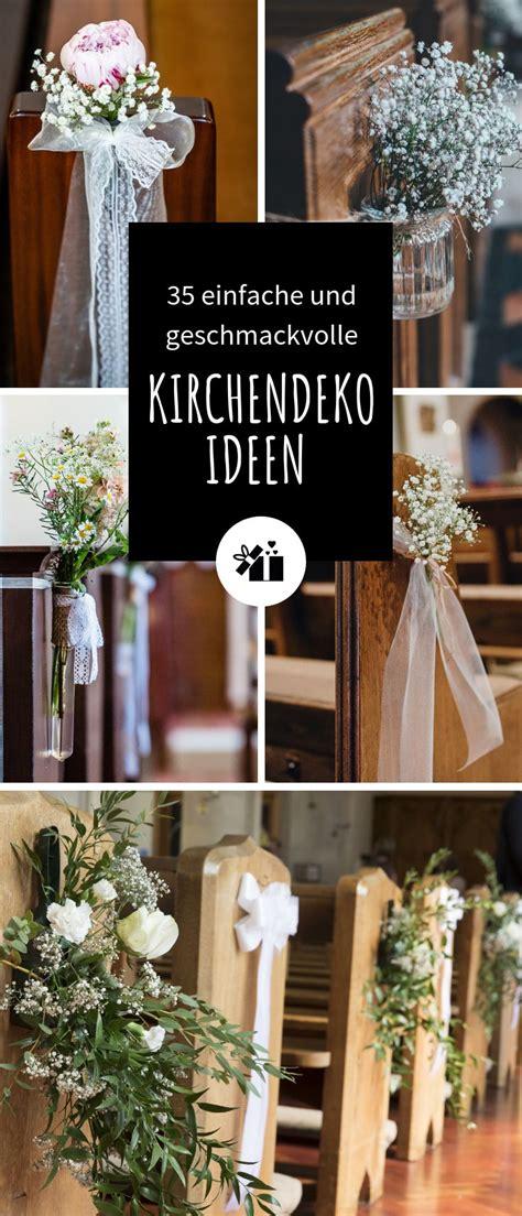 hochzeitsdeko kirche  einfache  geschmackvolle