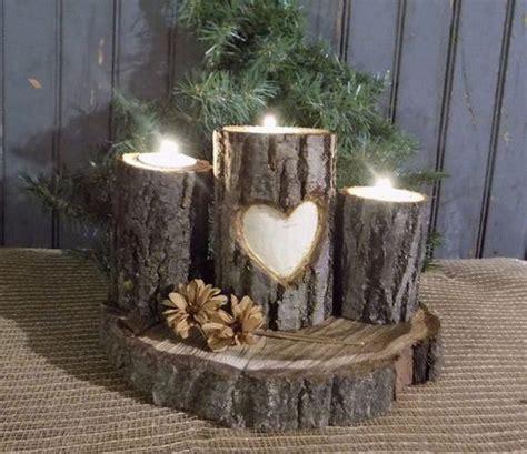 add warmth   home   rustic log decor ideas