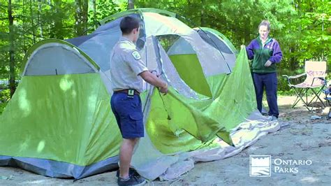 Camping Tips From Ontario Parks  Setting Up A Tent  Youtube