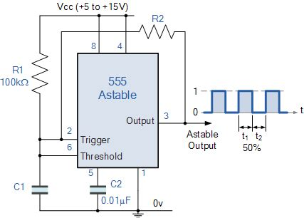 Timer Astable Frequency Problem Electrical