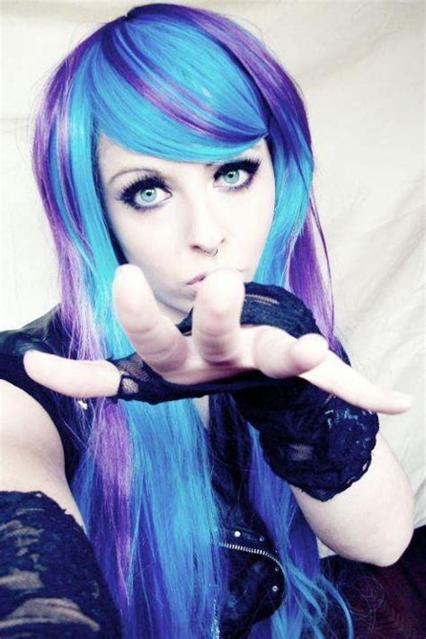 Turquoise And Purple Hair Hair Pinterest Turquoise
