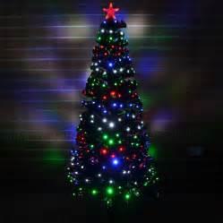 led fibre optic christmas tree pre lit xmas tree 2ft 3ft 3ft 4ft 5ft 6ft ebay