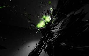 Black and Neon Green Wallpaper by TheonlyDragonFoX on ...