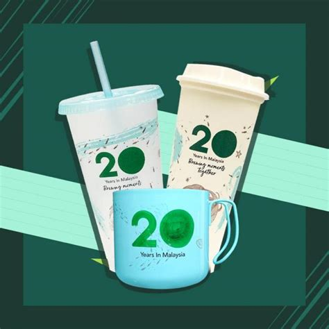 starbucks   anniversary reusable cup  august
