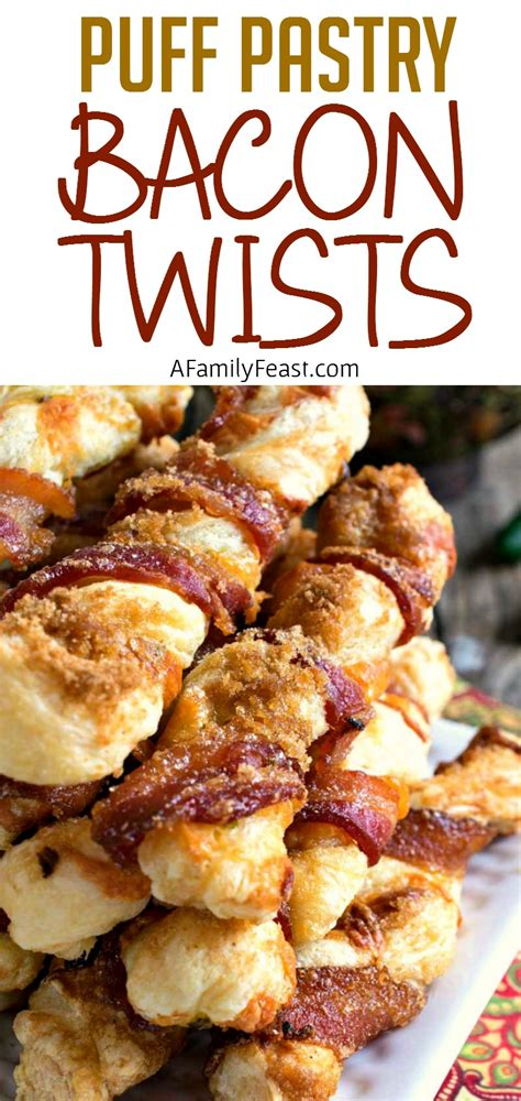 puff pastry bacon twists  family feast
