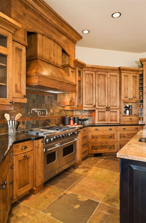 Pictures Of Wood Kitchen Cabinets by How To Decorate Around Wood Kitchen Cabinets Hunker