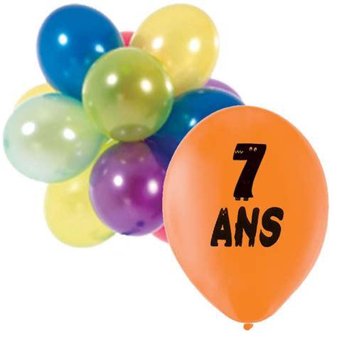 10 ballons anniversaire 7 ans
