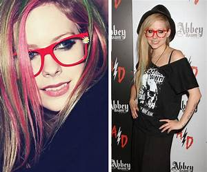 Avril Lavigne Glasses: Punk Rock - theLOOK | Coastal.com ...