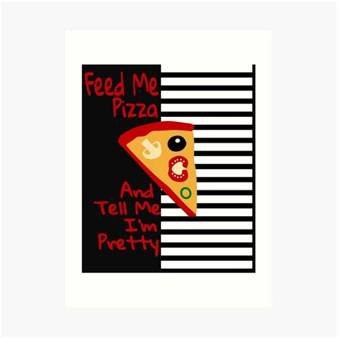 'Funny Pizza Lover Tees' Art Print by Bettylop in 2020 ...