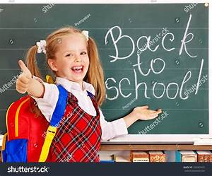 Happy Child Backpack Holding Book Isolated Stock Photo ...