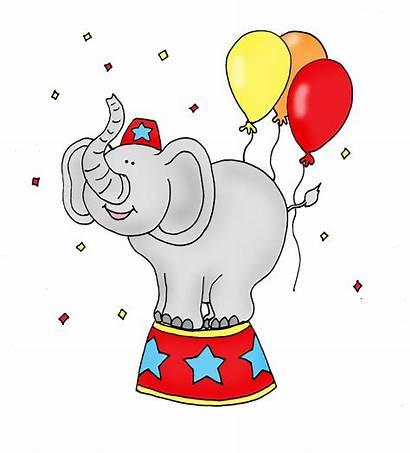 Circus Elephant Cartoon Clipart Carnival Cliparts Clip