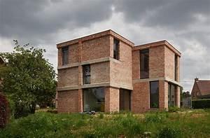 10 maisons briques contemporaines construire tendance With maison brique et bois