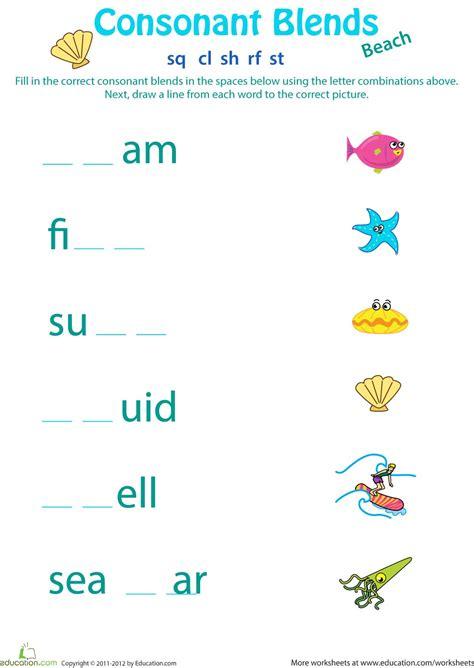 consonant blends worksheets for second grade homeshealth