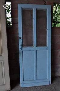 porte vitree a 4 carreaux bois chaleureux et decoratif With porte de garage et porte vitrée ancienne intérieur
