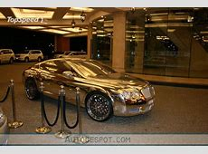 FAMOUS VEHICLES Golden Bentley Continental GT spotted in