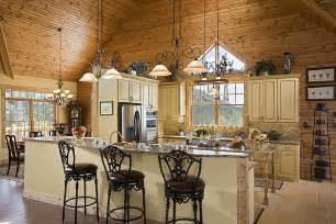two kitchen islands log cabin kitchens with modern and rustic style homestylediary