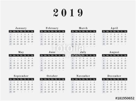 year calendar horizontal design stock image royalty