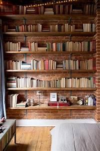 étagère Murale Bibliothèque : 1000 id es sur le th me biblioth que murale sur pinterest biblioth ques grande biblioth que ~ Teatrodelosmanantiales.com Idées de Décoration