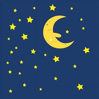 Sky Night Moon Stars Sleeping Clipart Clip