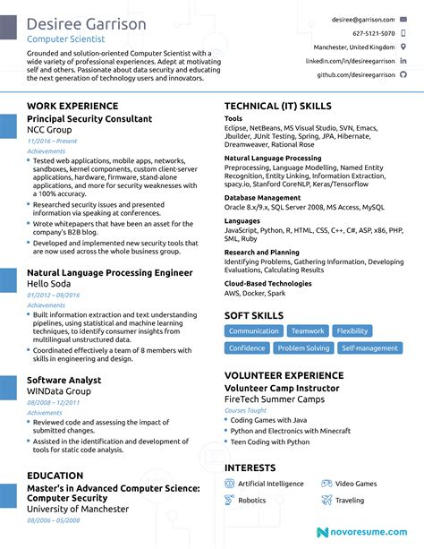 computer science resume  guide examples