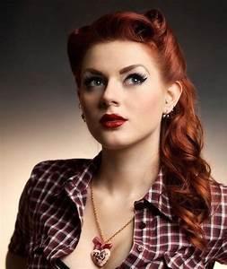 Coiffure Des Années 50 : id e coiffure coupe de cheveux rock coiffures ann es 50 femme roux victory rolls ~ Melissatoandfro.com Idées de Décoration
