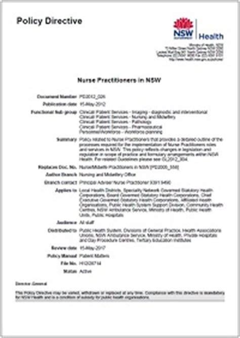 nurse practitioners  nsw professional practice