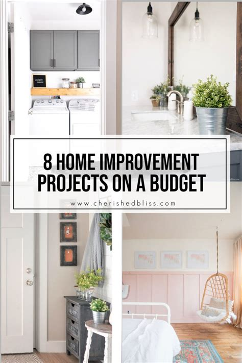 diy home improvement projects   budget cherished bliss