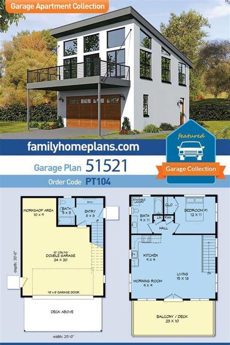 modern style  car garage apartment plan number    bed  bath   garage