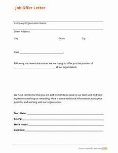 simple job offer letter  Jose mulinohouse co